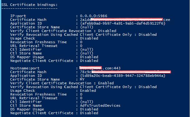 Changing ADFS certificates – Service Communications (SSL