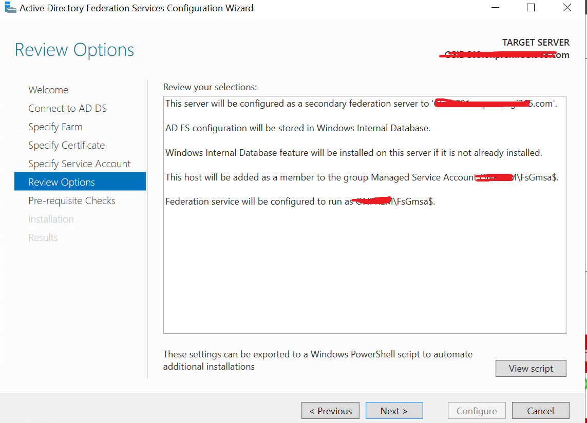 Upgrading ADFS farm to Windows Server 2016 FBL – Sam's Corner