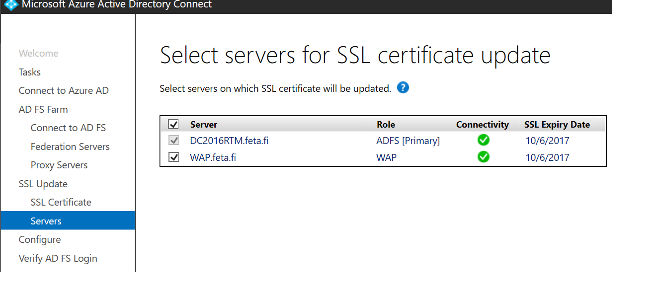 Changing Adfs Ssl Certificate Through Aad Connect Sams Corner
