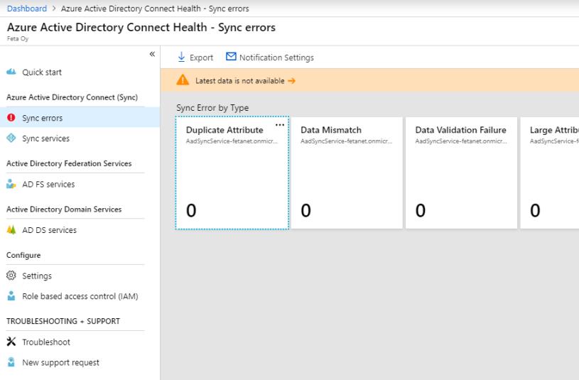 How To Fix – Azure AD Connect Health Status – Unmonitored – Sam's Corner